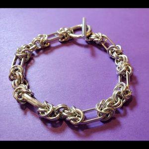 "Sterling Silver Bracelet - Solid Silver 7.5"""